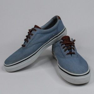 Men's Sperry Top-Sider Light Blue Canvas Sneakers